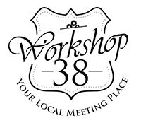 Workshop 38 Logo Transparent Black