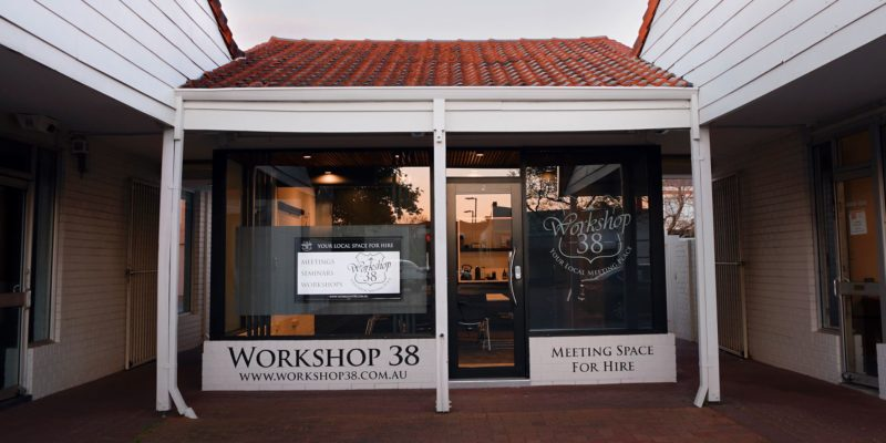 Workshop 38 Gallery space to hire - front view