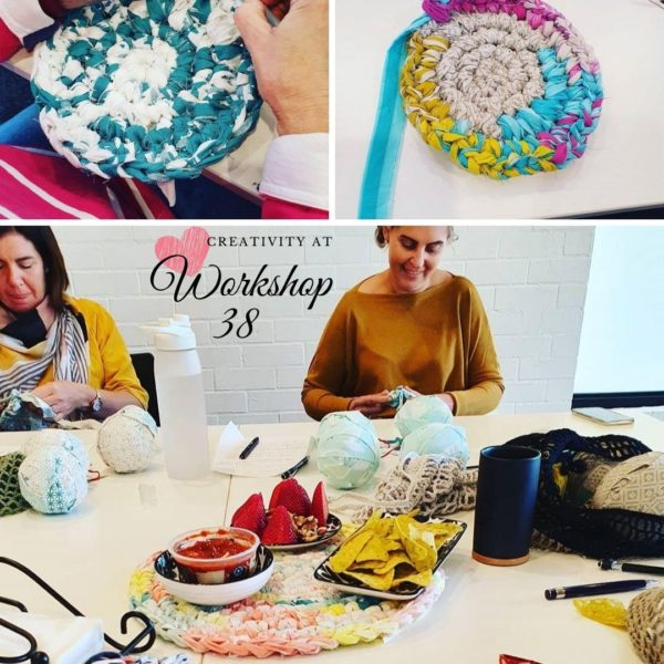 Creative workshop at Workshop 38 with Rags to Rugs